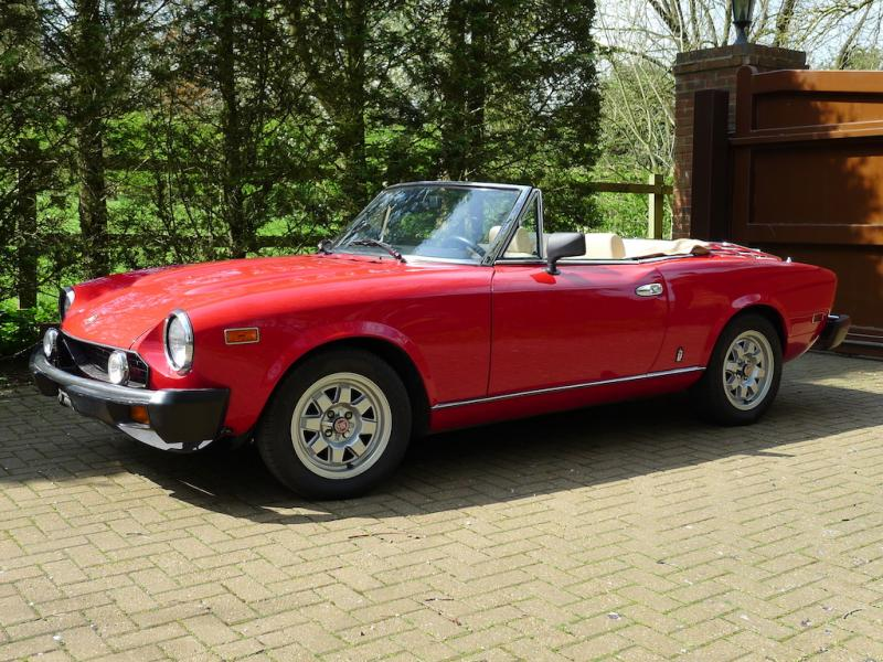 Classic Fiat 124 Spider Featured On Tv And In Multiple Magazines